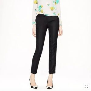 J. Crew Cafe Capri in Wool | Black